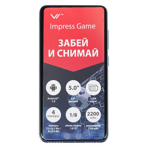 Смартфон VERTEX Impress Game голубой смартфон vertex impress game grafit