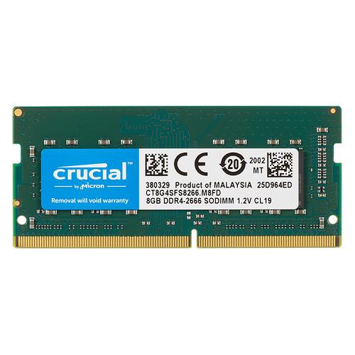 Модуль памяти CRUCIAL CT8G4SFS8266 DDR4 - 8ГБ 2666, SO-DIMM, Ret so dimm ddr4 4гб crucial ct4g4sfs824a