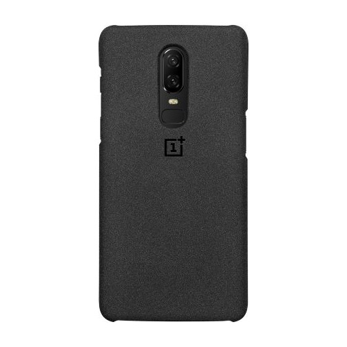 Чехол (клип-кейс) ONEPLUS Sandstone Protective Case, для OnePlus 6, серый [5431100045] case for oneplus 6 brushed texture voltage type cover