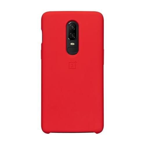 Чехол (клип-кейс) ONEPLUS Silicone Protective Case, для OnePlus 6, красный [5431100050]  - купить со скидкой