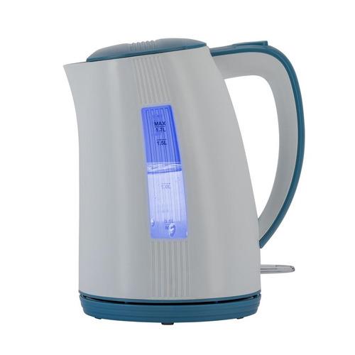все цены на Чайник электрический POLARIS PWK 1790СL, 2200Вт, белый и синий онлайн