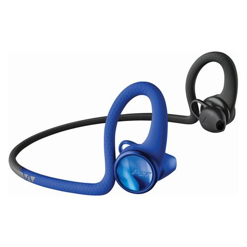 Наушники PLANTRONICS BackBeat Fit 2100, Bluetooth, вкладыши, синий/черный [212202-99]