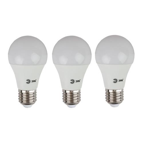 Упаковка ламп LED ЭРА E27, груша, 10Вт, 4000К, белый нейтральный, A60-10W-840-E27, 3 шт. [б0028005] A60-10W-840-E27 по цене 150