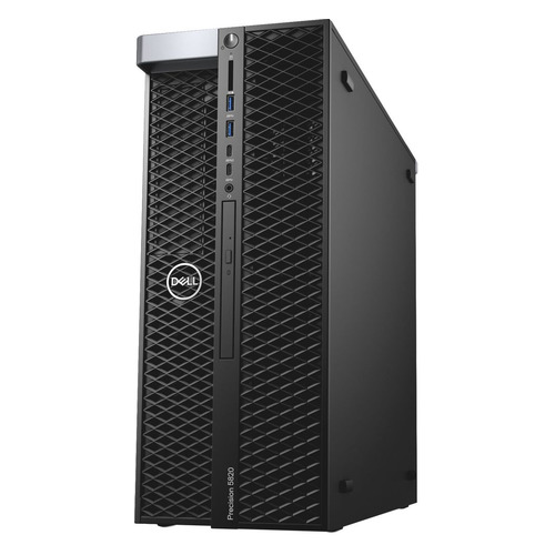 Рабочая станция DELL Precision T5820, Intel Xeon W-2123, DDR4 16Гб, 1000Гб, 256Гб(SSD), NVIDIA Quadro P4000 - 8192 Мб, DVD-RW, Windows 10 Professional, черный [5820-2684] dell dell precision 7710 черный hdd 1 тб ssd 512 мб intel xeon e3 1535m