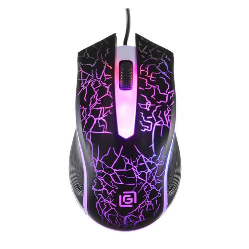 Мышь OKLICK 395M SHADOW, игровая, оптическая, проводная, USB, черный цена и фото