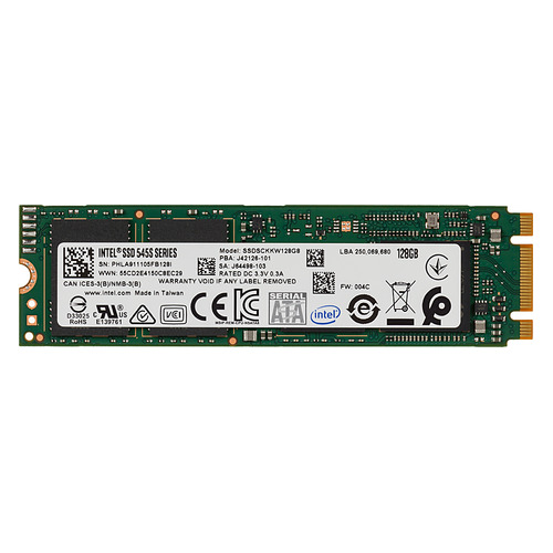 SSD накопитель INTEL 545s Series SSDSCKKW128G8X1 128Гб, M.2 2280, SATA III ssd накопитель silicon power m series sp120gbss3m55m28 120гб m 2 2280 sata iii
