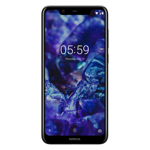 Смартфон NOKIA 5.1 Plus 32Gb, черный смартфон nokia 7 plus черный