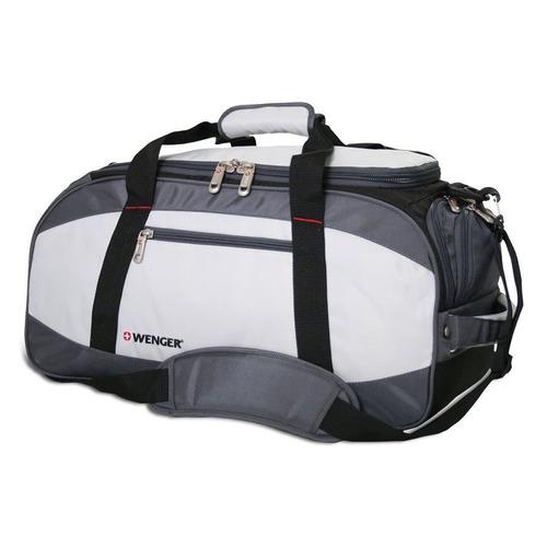 Сумка спортивная Wenger 1200D черный/серый 52744465 52x25x30см цена и фото