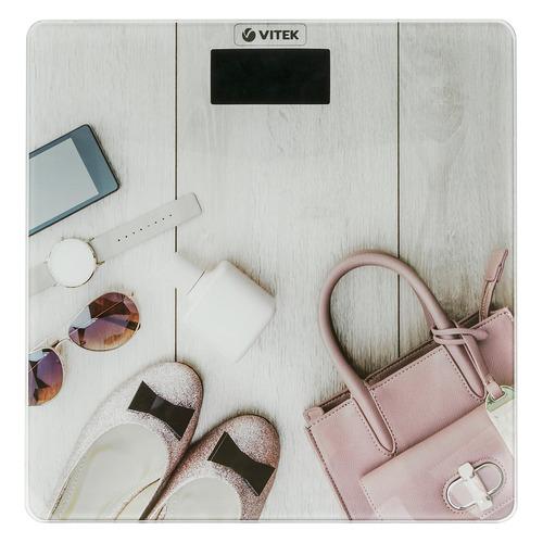 Напольные весы VITEK VT-8074 PK, до 180кг, цвет: розовый [8074-vt] весы электронные vitek vt 8074