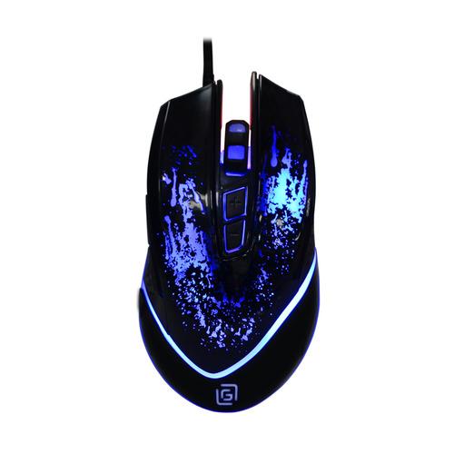 Мышь OKLICK 888G INFINITY, игровая, оптическая, проводная, USB, черный цена и фото