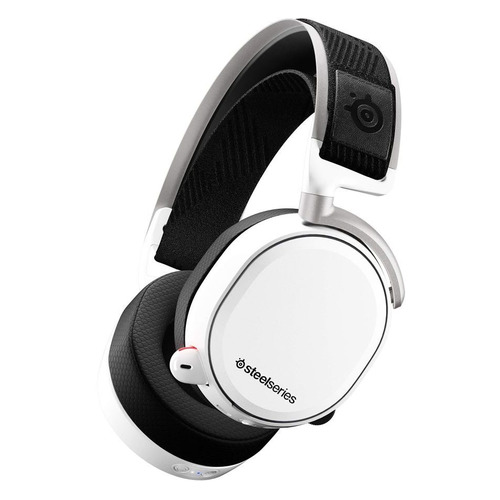 Наушники с микрофоном STEELSERIES Arctis Pro Wireless, мониторы, bluetooth, белый [61474]