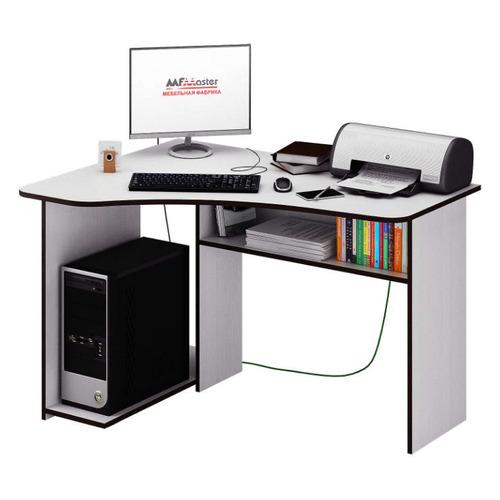 Стол компьютерный МАСТЕР Триан-1 левый угол, угловой, ЛДСП, белый