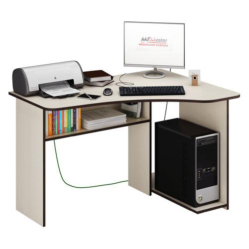 Стол компьютерный МАСТЕР Триан-1 правый угол, угловой, ЛДСП, дуб молочный