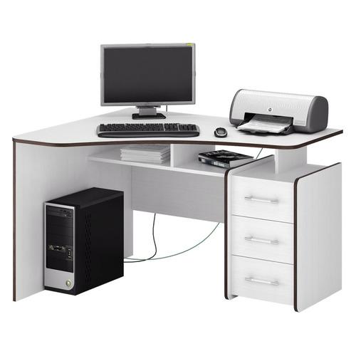 Стол компьютерный МАСТЕР Триан-5 левый угол, угловой, ЛДСП, белый