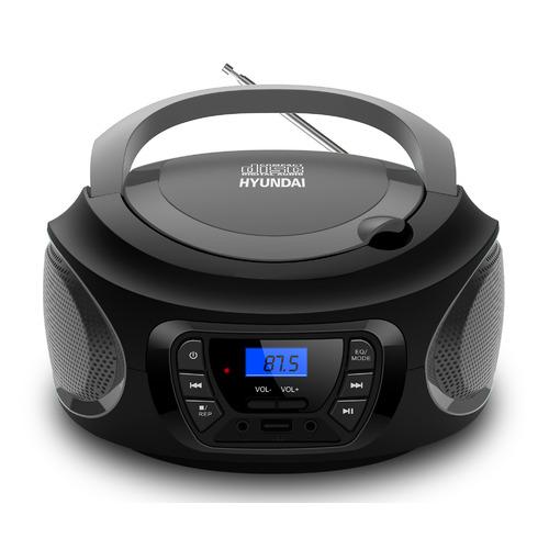 Аудиомагнитола HYUNDAI H-PCD380, черный и серый mystery аудиомагнитола mystery bm 6101 серый 4вт cd cdrw mp3 fm an