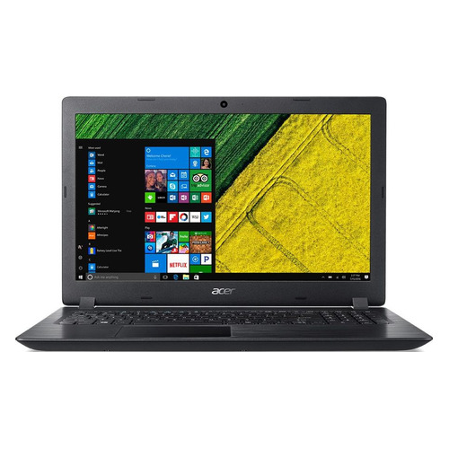Ноутбук ACER Aspire A315-51-358W, 15.6, Intel Core i3 7020U 2.3ГГц, 4Гб, 500Гб, 128Гб SSD, Intel HD Graphics 620, Windows 10 Home, NX.H9EER.007, черный