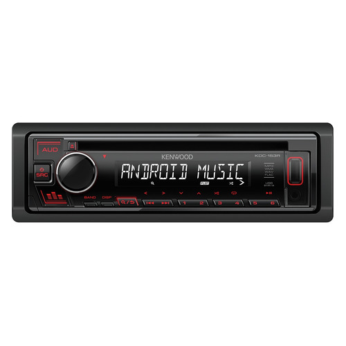 Автомагнитола KENWOOD KDC-153R, USB автомагнитола cd kenwood kdc 153r 1din 4x50вт