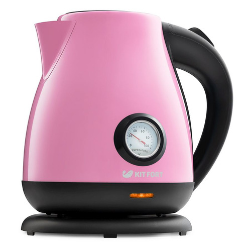 Чайник электрический KITFORT КТ-642-1, 2200Вт, розовый и черный чайник kitfort kt 642 1 розовый