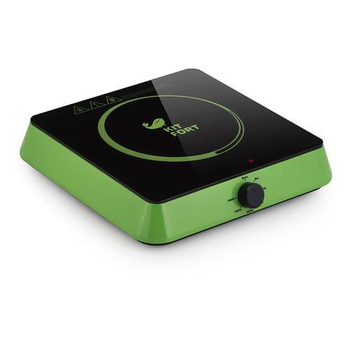 лучшая цена Плита Электрическая Kitfort КТ-113-2 зеленый/черный стеклокерамика (настольная)