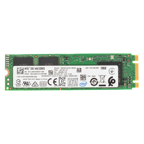 SSD накопитель INTEL 545s Series SSDSCKKW128G8 128Гб, M.2 2280, SATA III [ssdsckkw128g8 959551] ssd накопитель silicon power m series sp120gbss3m55m28 120гб m 2 2280 sata iii