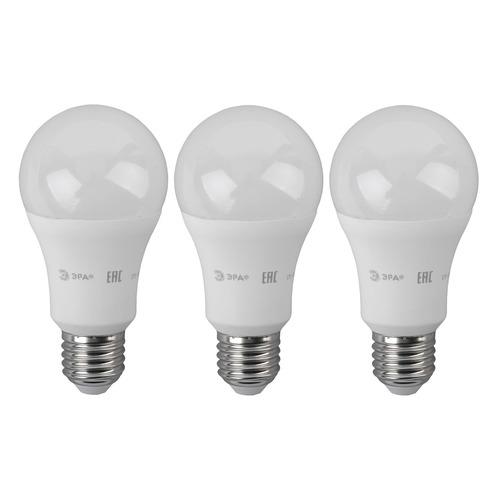 Упаковка ламп ЭРА A60-14W-827-E27, 14Вт, 1120lm, 25000ч, 2700К, E27, 3 шт. [б0030028] A60-14W-827-E27 по цене 250