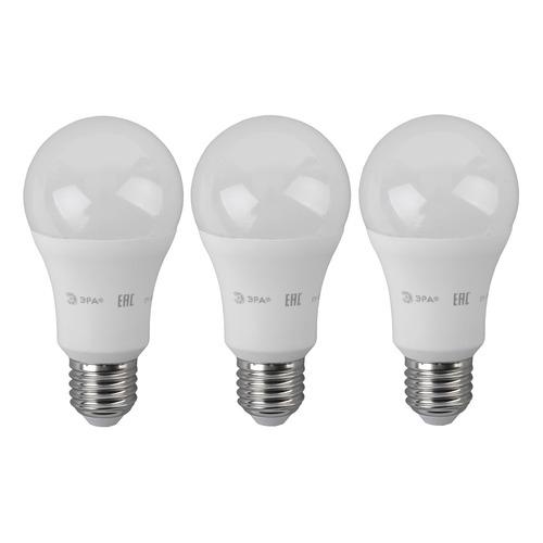 Лампа ЭРА A60-14W-840-E27, 14Вт, 1120lm, 25000ч, 4000К, E27, 3 шт. [б0030029] лампа эра a60 14w 840 e27 14вт 1120lm 25000ч 4000к e27 3 шт [б0030029]
