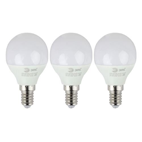 Фото - Упаковка ламп LED ЭРА E14, шар, 6Вт, 4000К, белый нейтральный, Р45-6W-840-E14, 3 шт. [б0020628] упаковка ламп led эра e14 свеча 6вт 4000к белый нейтральный b35 6w 840 e14 3 шт [б0020619]