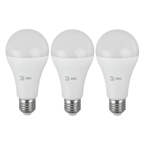 Упаковка ламп LED ЭРА E27, груша, 21Вт, 6000К, белый холодный, A65-21W-860-E27, 3 шт. [б0035333] A65-21W-860-E27 по цене 370