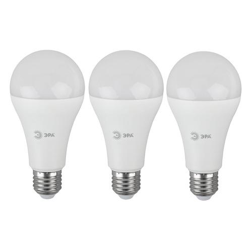 Упаковка ламп LED ЭРА E27, груша, 25Вт, 2700К, белый теплый, A65-25W-827-E27, 3 шт. [б0035334] A65-25W-827-E27 по цене 420