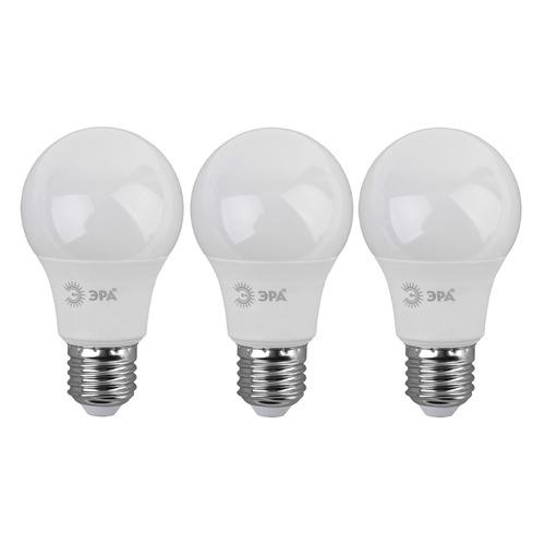 Упаковка ламп LED ЭРА E27, груша, 9Вт, 4000К, белый нейтральный, A60-9W-840-E27, 3 шт. [б0032247] A60-9W-840-E27 по цене 200