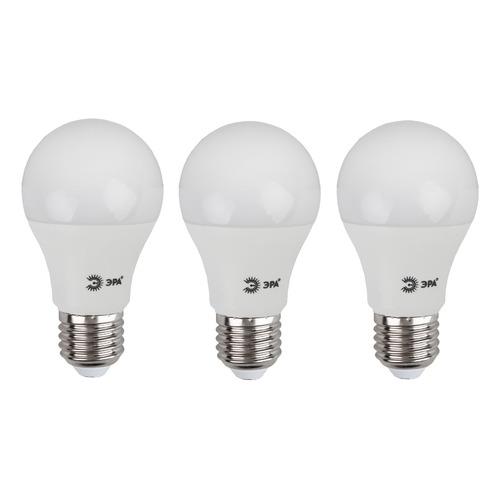Упаковка ламп LED ЭРА E27, груша, 15Вт, 6000К, белый холодный, A60-15W-860-E27, 3 шт. [б0031396] A60-15W-860-E27 по цене 260