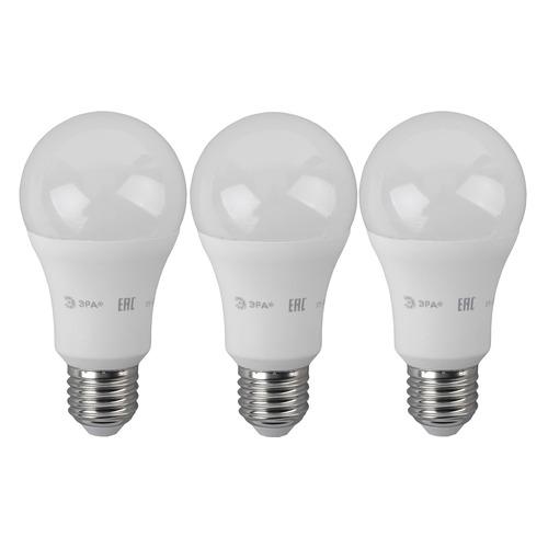 цена Лампа ЭРА A60-17W-827-E27, 17Вт, 1360lm, 30000ч, 2700К, E27, 3 шт. [б0031699] онлайн в 2017 году