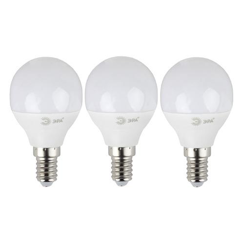 Лампа ЭРА P45-7W-840-E14, 7Вт, 560lm, 30000ч, 4000К, E14, 3 шт. [б0020551] лампа светодиодная эра б0017242 e14 p45 7вт