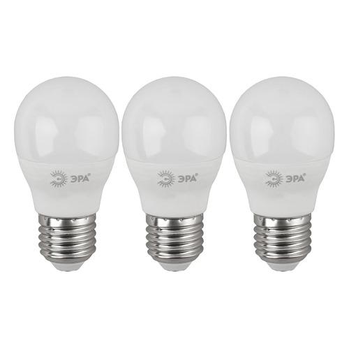 Упаковка ламп LED ЭРА E27, шар, 7Вт, 6000К, белый холодный, P45-7W-860-E27, 3 шт. [б0031402] P45-7W-860-E27 по цене 250