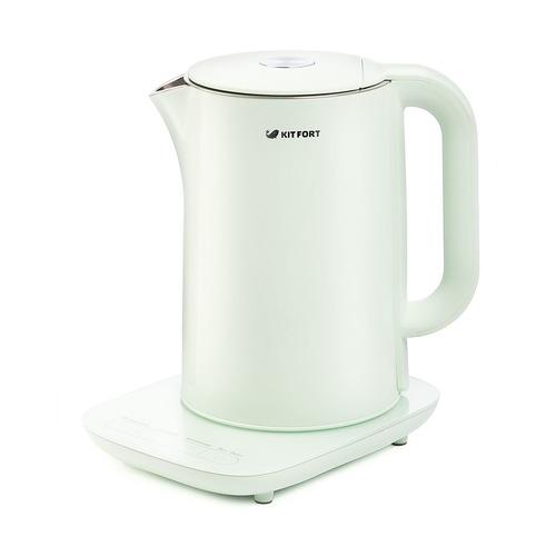 Чайник электрический KITFORT КТ-629-2, 1800Вт, мятный и серебристый КТ-629-2 по цене 4 990