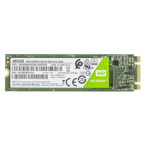 SSD накопитель WD Green WDS480G2G0B 480Гб, M.2 2280, SATA III wd 4 тб
