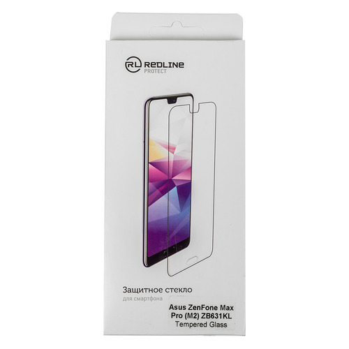 Защитное стекло для экрана REDLINE для Asus ZenFone Max Pro M2 ZB631KL, 1 шт [ут000016811]