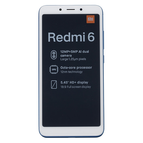 Смартфон XIAOMI Redmi 6 3/64Gb, синий
