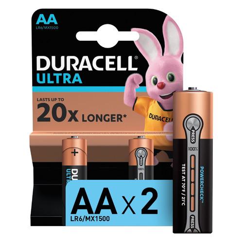 AA Батарейка DURACELL Ultra LR6-2BL MX1500, 2 шт.