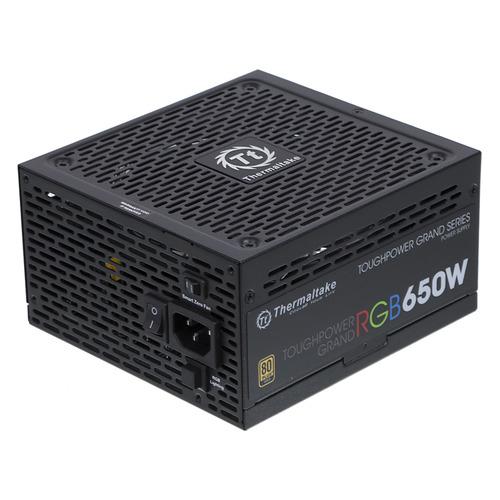 Блок питания THERMALTAKE Toughpower Grand RGB Sync, 650Вт, 140мм, черный, retail [ps-tpg-0650fpcgeu-s] цены