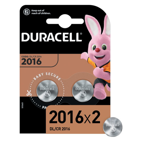 CR2016 Батарейка DURACELL DL/CR2016, 2 шт.