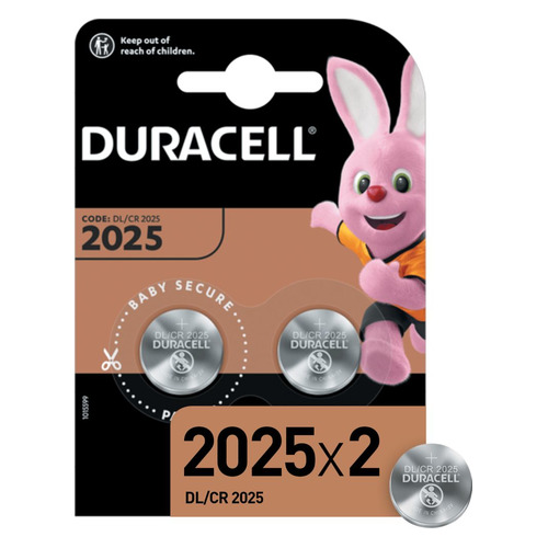 CR2025 Батарейка DURACELL DL/CR2025, 2 шт.