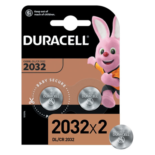 CR2032 Батарейка DURACELL DL/CR2032, 2 шт.