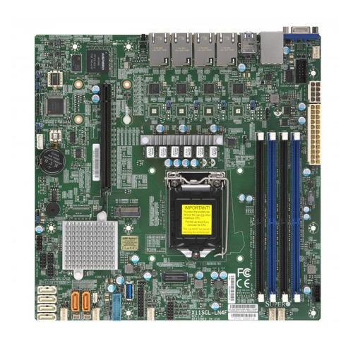 Серверная материнская плата SUPERMICRO MBD-X11SCL-LN4F-O, Ret недорого
