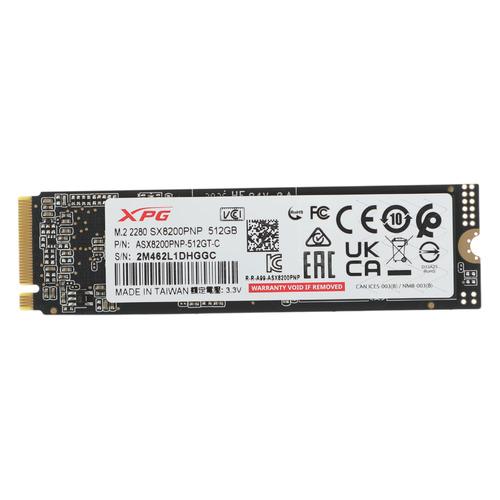 Фото - SSD накопитель A-DATA XPG SX8200 Pro ASX8200PNP-512GT-C 512ГБ, M.2 2280, PCI-E x4, NVMe твердотельный накопитель ssd a data ssd накопитель xpg sx8200 pro asx8200pnp 2tt c 2tb
