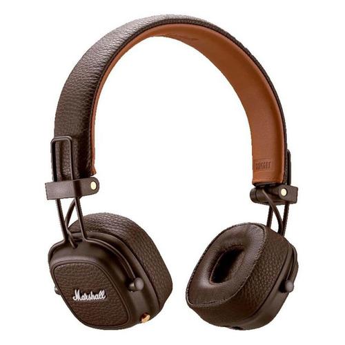 Наушники с микрофоном MARSHALL Major III, 3.5 мм/Bluetooth, накладные, коричневый [mrshlmajor3brwbt04092187] цена и фото