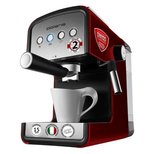 лучшая цена Кофеварка POLARIS PCM 1516E Adore Crema, эспрессо, красный