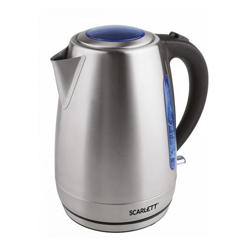 Чайник электрический SCARLETT SC-EK21S70, 2200Вт, серебристый матовый цена и фото