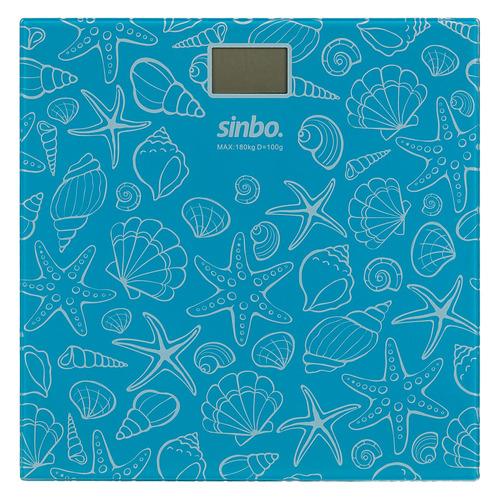 Напольные весы SINBO SBS 4429S, до 180кг, цвет: бирюзовый sinbo весы напольные электронные sinbo sbs 4414 макс 150кг серебристый черный