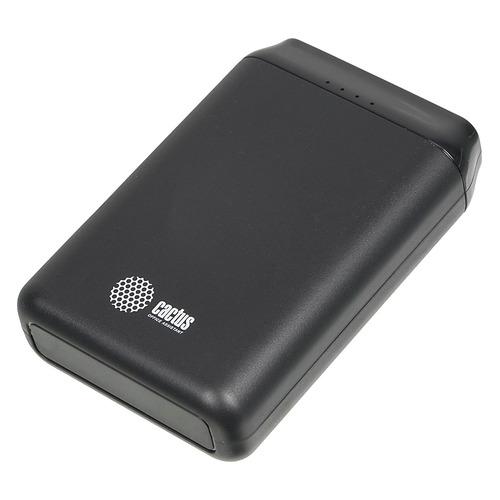 Внешний аккумулятор (Power Bank) CACTUS CS-PBFSST-10000, 10000мAч, черный цена и фото